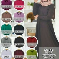 gamis polos super jersey