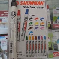 Spidol Snowman White Board Marker Hitam