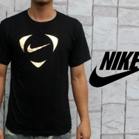Kaos Oblong Nike Air Hitam Gold (T-shirt,Black) Teteron Cotton 30s