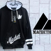 Jaket Macbeth Vegan Hitam (Switer-Fleece-Hoodie-Sweater-Distro) Murah
