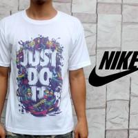 Kaos Oblong Nike Just Do It Gravity Putih (T-shirt) Teteron Cotton 30s