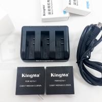 Kingma Triple Charger & 2 pcs Battery For Xiaomi Yi 2 4K