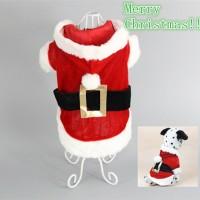 kostum santa baju natal anjing kucing binatang