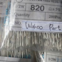 Resistor 820 ohm 1/2what 5% isi 100 pcs
