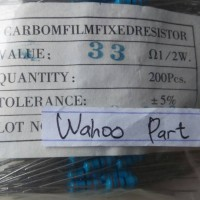 Resistor 33 ohm 1/2what 5% isi 100 pcs