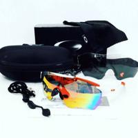 kacamata sport sepeda oaklay radar EV zero 3 lensa polarized