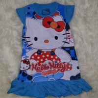 Dress Daster Anak Perempuan Hello Kitty Biru / Baju Pakaian Anak Murah