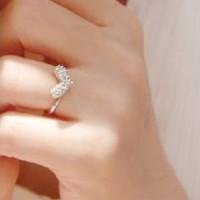 cincin hati berlian zircon diamond heart shape ring jci015