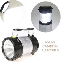 Lampu Emergency Senter Tenaga Surya + Powerbank/ Solar Flashlight Lamp