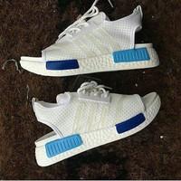 Sandal Adidas NMD White Blue Tosca