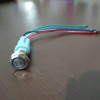 stainless switch led 16mm push on off self locking saklar latching