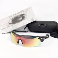 kacamata sport sepeda oaklay radar aloy fore polarized full set