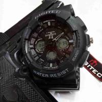 Jam Tangan Pria Digitec DG2032 Dualtime Black list Grey