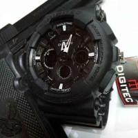 Jam Tangan Pria Digitec DG2032 Dualtime Full Black