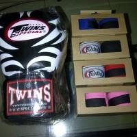 Glove,Sarung Tinju,Boxing Thai Twins + Handwrap Fairtex Sepasang