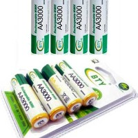 Rechargeable Battery BTY-5 AA 3000mah 1.2V Ni-MH 4 pcs Recharge