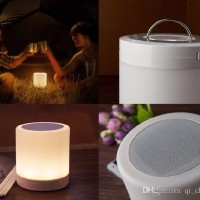 LAMPU SPEAKER BLUETOOTH RADIO TOUCHSCREEN LAYAR SENTUH LAMP EMERGENCY