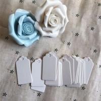 hangtag hang tag label tag baju aksesoris samson karton putih merk new