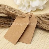 HANG TAG label tag baju aksesoris merk brand hangtag tali gantung