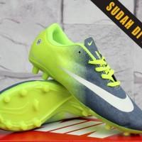Sepatu Bola Anak Nike Mercurial Vapor X Silver Hijau(Sepakbola kids)