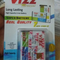 baterai double power vizz bb davis atau amstrong
