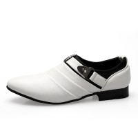 PINSV Men Formal Shoes Casual Loafers ff08White ff09 - Intl