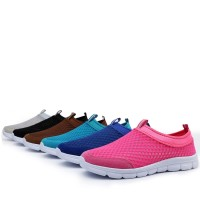 PINSV Men Fashion Low Cut Breathable Mesh Shoes (Blue)