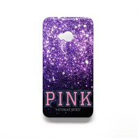Victoria Secret Purple Gliter Case for HTC ONE M7