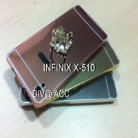 Case INFINIX X510 / HOT 2 Aluminum Bumper Mirror Hard back Case