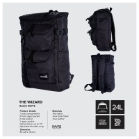 Tas Ransel Daypack Laptop Murah Gaya - Ravre The Wizard Black Matte