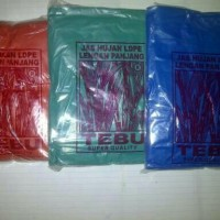 Jas Hujan Disposable Warna : Hijau, Biru, Merah