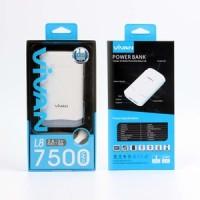 Power Bank Vivan L8 7500mah + Body LED   Garansi Resmi 1 Tahun