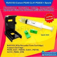 Refill Kit / Klip Penyedot Tinta Cartrige Canon PG40 Cl41 PG830 CL831