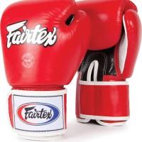 Glove Sarung Tinju Fairtex Red + Handwrap Fairtex Sepasang Red 5 meter