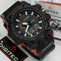 Jam Tangan Pria Digitec Dualtime Black-Red
