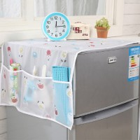 Taplak Penutup Kulkas Waterproof Cover Dengan Kantong Storage Pouch