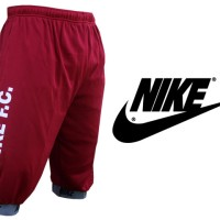 Celana Joger Pendek 3/4 Nike Merah Maroon(Pants,Training,Sport,Unisex)