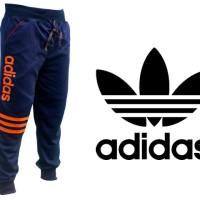 Celana Joger Pants Panjang Adidas Biru Dongker (Training,Navy,Unisex).