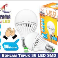 Lampu LED Bohlam Sensor Tepuk 15 Watt Mitsuyama MS-S0115