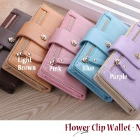 Flower Clip Wallet