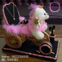 kotak cincin boneka set perhiasan lengkap untuk mahar