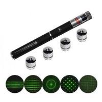 Green Laser Pointer 5 Kepala Head - 5 macam sinar tembak Presentasi