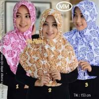 Jilbab Serut Bunga instan, manis di pakai buat siapa saja