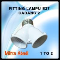 Fitting Lampu E27 Cabang 2