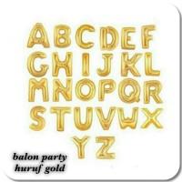 BALON FOIL GOLD HURUF & ANGKA 40cm