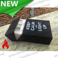 Cover Kotak Rokok Silicone Motif Keep Calm - Black