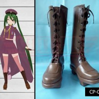 Sepatu cosplay Vocaloid Hatsune miku Senbonzakura