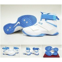 sepatu basket nike lebron soldier 10 white blue