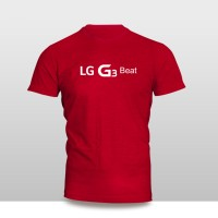 Kaos Baju Pakaian GADGET HANDPHONE LG G3 BEAT Logo Font murah