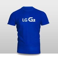 Kaos Baju Pakaian GADGET HANDPHONE LG G2 Logo Font murah